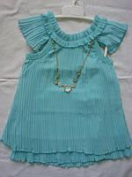 Платье летнее,нарядное, с бусами.Размеры  1,2,3 года