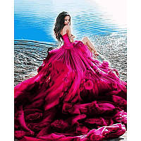 Картина по номерам Девушка в розовом 40Х50см Mariposa Q2118