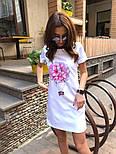 Женское платье-футболка с карманами и актуальными принтами, фото 7