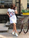 Женское платье-футболка с карманами и актуальными принтами, фото 6
