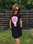 Женское платье-футболка с карманами и актуальными принтами, фото 8