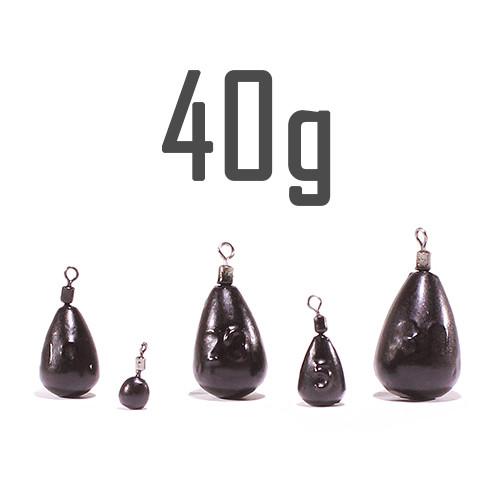 """Груз """"Джиг-Риг"""" 40 г. чёрный (5 шт.) Днипро-Свинец"""