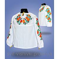"""Детская вышиванка для девочки """"Чорнобривці"""" 9236"""