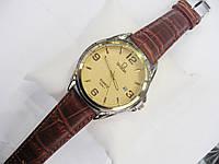 Мужские кварцевые наручные часы Omega, Gold, фото 1