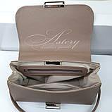 Женская бежевая сумка LAURA из кожи и питона, фото 4