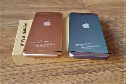 Портативное зарядное устройство. Power bank Apple iPower (20 000 mAh).Павербанк синего цвета, фото 2