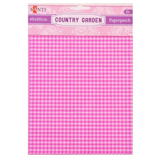 Папір для декупажу, Country garden, 2 листи 40*60 см Santi