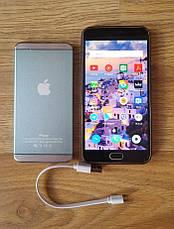 Портативное зарядное устройство. Power bank Apple iPower (20 000 mAh).Павербанк синего цвета, фото 3