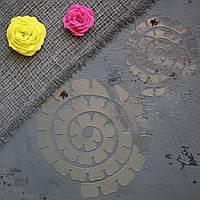 """Пластиковый шаблон набор из 2 шт """"Спираль роза"""" для создания цветов из фоамирана, фетра, картона"""