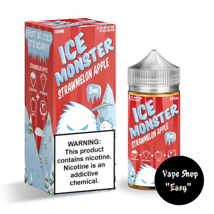 Жидкость Ice Monster Strawmelon Apple 100 ml 3 мг USA  Original.