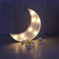 Ночник-светильник Луна белый