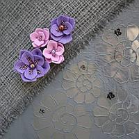 """Пластиковый шаблон набор из 4 шт """"Суккулент"""" для создания цветов из фоамирана, фетра, картона"""