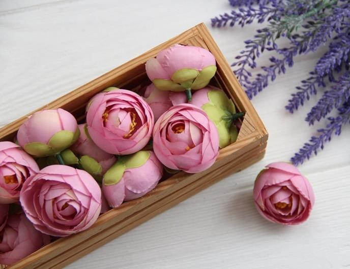 Ранункулюс бутон ,   пыльный розовый                  100 шт