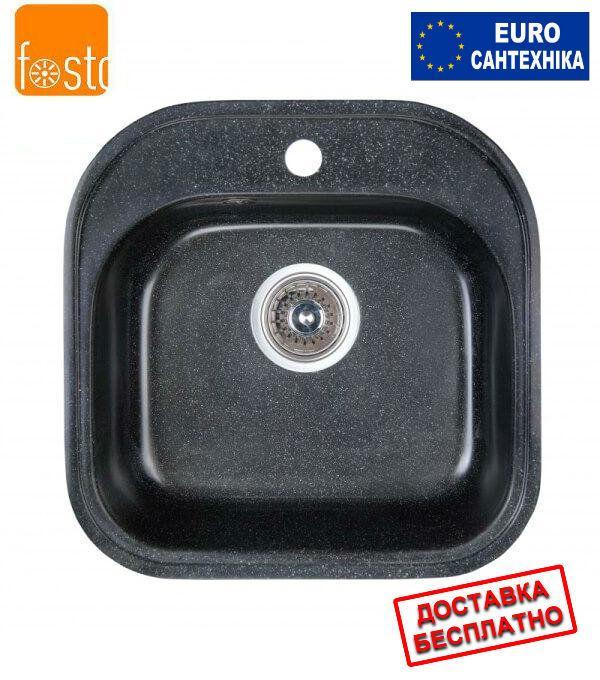 Гранитная мойка Fosto 48x49 SGA-420 черный