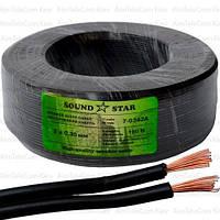 Кабель питания Sound Star, CCA, 2х0.35мм², чёрный, 100м