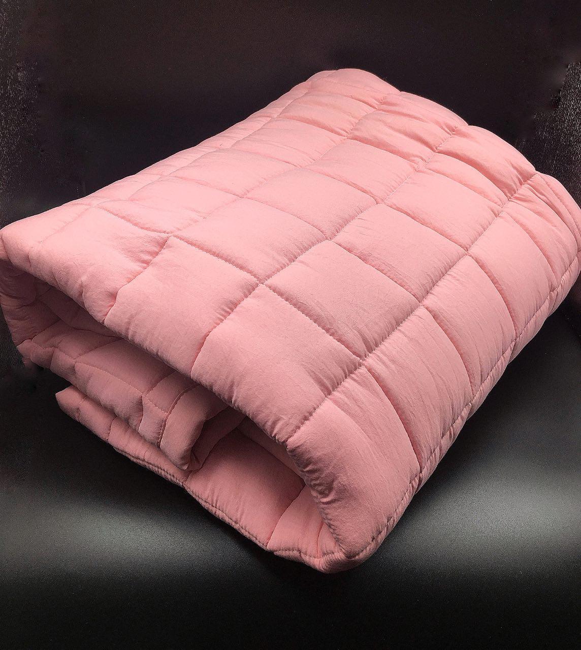 """Одеяло двуспальное стеганое хлопок """"Зефирка"""" 180х200 Розовый"""