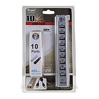 USB хаб hub 10 портов разветвитель, фото 1