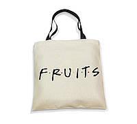 """Эко-сумка с черной ручкой """"FRUITS"""", фото 1"""
