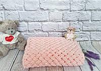 Плед детский 85х85 см Alize Puffy Пудра №340 (Ручная работа) Бесплатная доставка