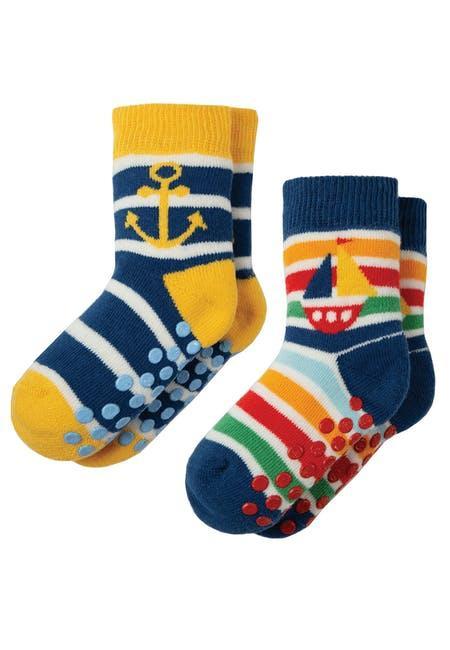 Носки детские синие Frugi, Grippy 2 пары