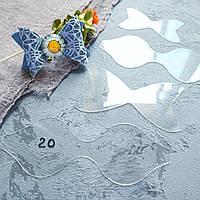 """Пластиковые шаблоны набор из 4 шт """"Бантик"""" для создания бантиков в виде заколок, повязок, резинок"""