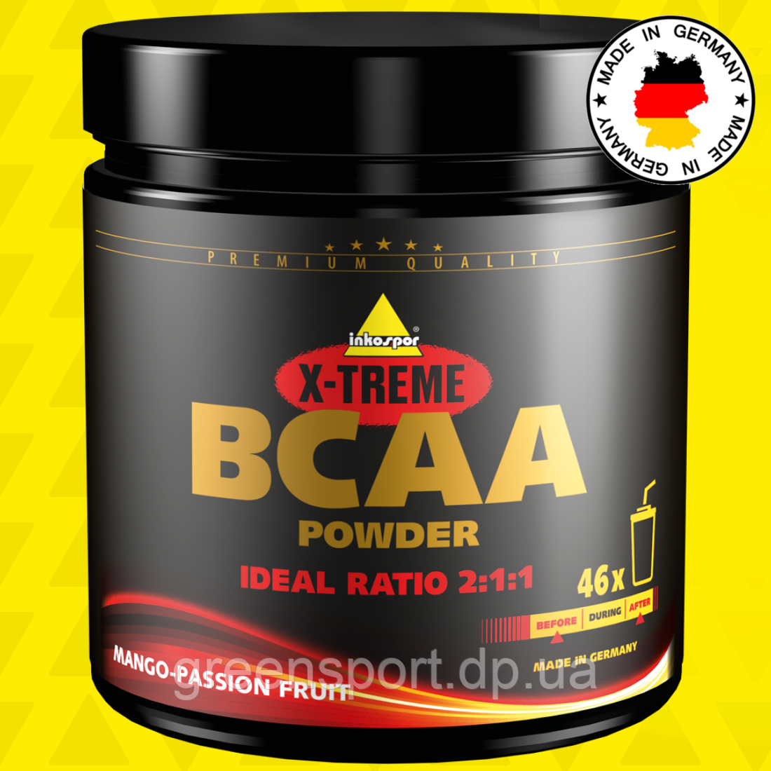 BCAA аминокислоты Inkospor X-Treme BCAA Powder 300 г Манго-маракуйя
