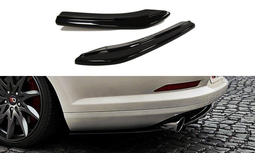 Диффузоры заднего бампера юбка элерон тюнинг VW Volkswagen Passat CC R36 R-line дорестайл