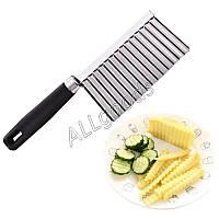 Нож для чипсов, фигурной нарезки овощей, сыра