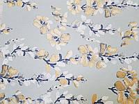 Обои флизелиновые  Khroma LAV602 LA VIE EN ROSE бирюзовые ветки  цветы золотистые