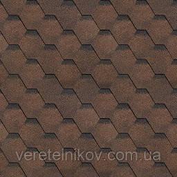 Финская черепица Шинглас Соната (Shinglas Sonata) коричневая