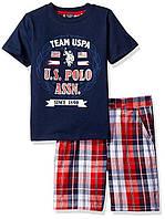 Комплект детский футболка шорты 3 4 года EUR 98 104 Polo Assn оригинал