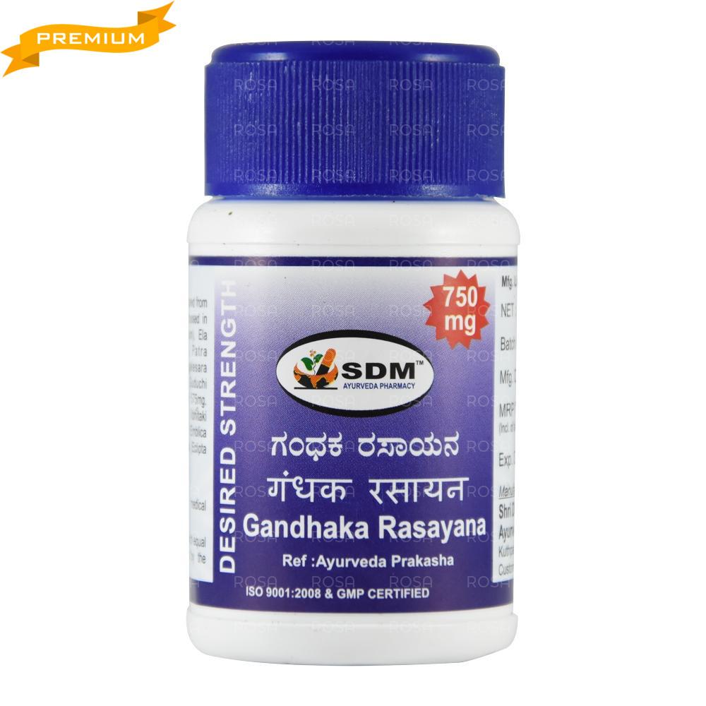 Гандхака Расаяна (Gandhaka Rasayana DS, SDM), 40 таб. очищает, при кожных и венерических заболеваниях