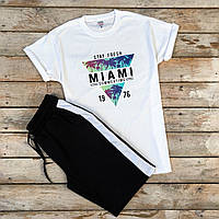 Футболка + шорти (чоловічий літній костюм ). Чоловічий комплект футболка +шорти.