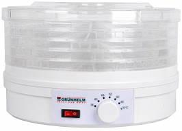 Сушильный аппарат для фруктов и овощей Grunhelm BY1102 245 Вт сушилка 7 температурных режимов