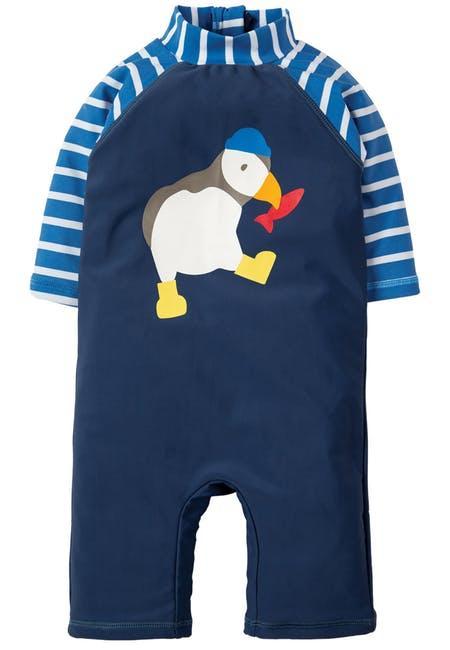 Костюм для плаванья Frugi , Little Sun Safe Suit, темносиний, фото 1