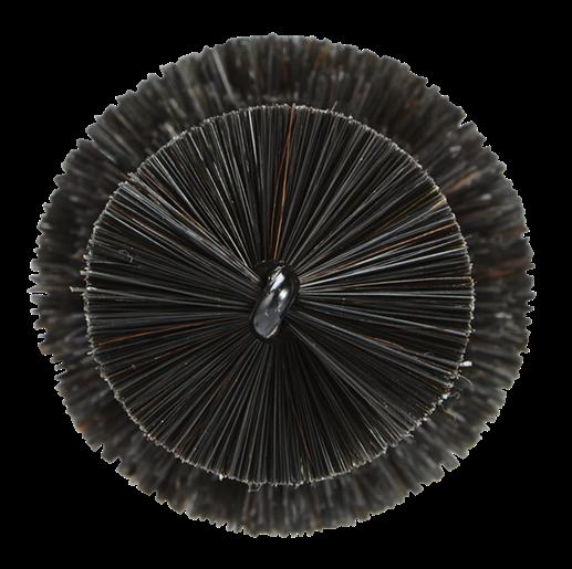 Vikan - цилиндрическая черная щетка для очистки дисков 320 x 170 x 65 мм - фото 4