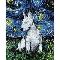Картина по номерам Mariposa Бультерьер в стиле Ван Гога 40Х50см Q2193
