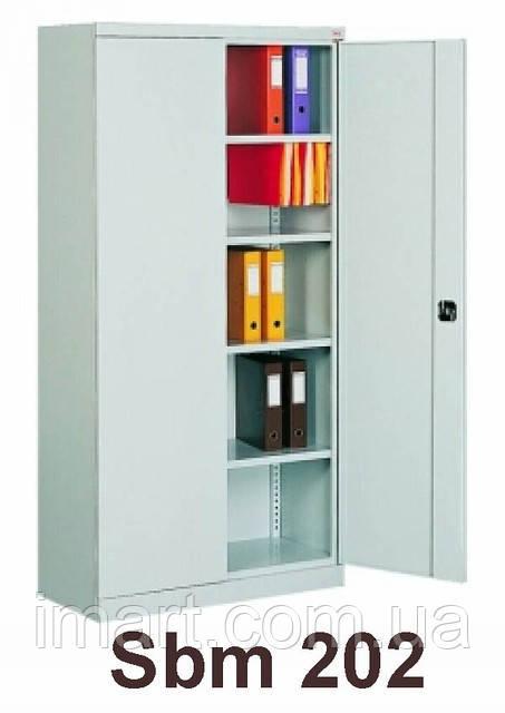 Шкаф архивный канцелярский Sbm 202, шкаф металлический для документов. Шафа металева для документів