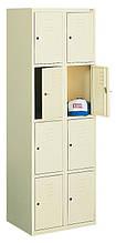 Ячеечный металлический шкаф (локер) на 8 отделений. Осередковий металева шафа (локер) на 8 відділенн