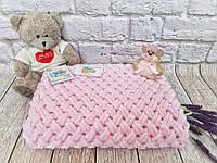 Плед детский 85х85 см Alize Puffy Розовый №31 (Ручная работа) Бесплатная доставка
