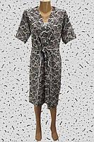 Комплект женский халат,топ с шортами.