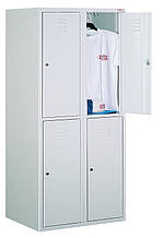 Ячеечный металлический шкаф (локер) на 4 отделения. Осередковий металева шафа (локер) на 4 відділенн