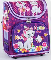 """Детский школьный рюкзак ортопедический 37х29х20см """"Hello Kitty"""". Каркасный портфель, ранец для девочки КОШЕЧКА"""