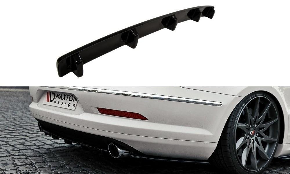 Диффузор заднего бампера юбка элерон тюнинг VW Volkswagen Passat CC R36 R-line с вертикальными выступами