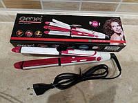 Утюжок гофре стайлер плойка для волос 3 в 1 Gemei GM-2921 (локоны, выпрямитель, гофре)