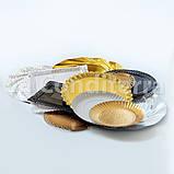 Чорні ажурні тарілки Salaet ARIES, круглі d=32 см, фото 2