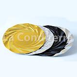 Чорні ажурні тарілки Salaet ARIES, круглі d=35 см, фото 3