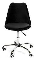 Кресло мастера черный В-4 бархат Milan soft office (Милан софт), мягкое сиденье