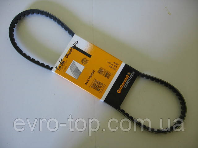 Ремінь клиновий ContiTech AVX 10x850 на Hyundai, Iveco, Jaguar, Mercedes, Opel, Renault, Toyota, Volvo, VW