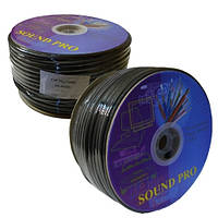 Кабель акустический Sound Pro, Cu, 2х4.0мм², круглый, 100м (JY-01511)
